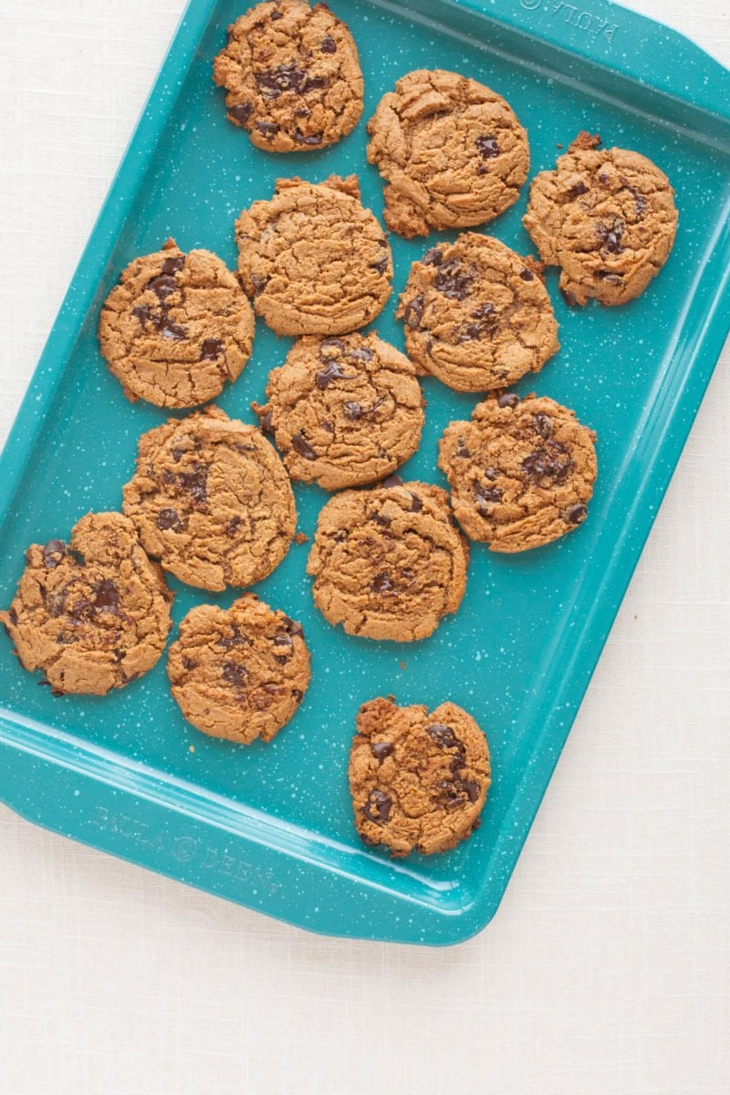 Chocolate Chip Almond Butter Cookies - Cookie Sheet