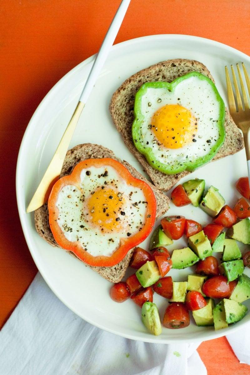 Bell Pepper Eggs - Plated