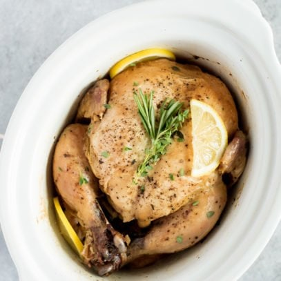 Fall Apart Slow Cooker Chicken