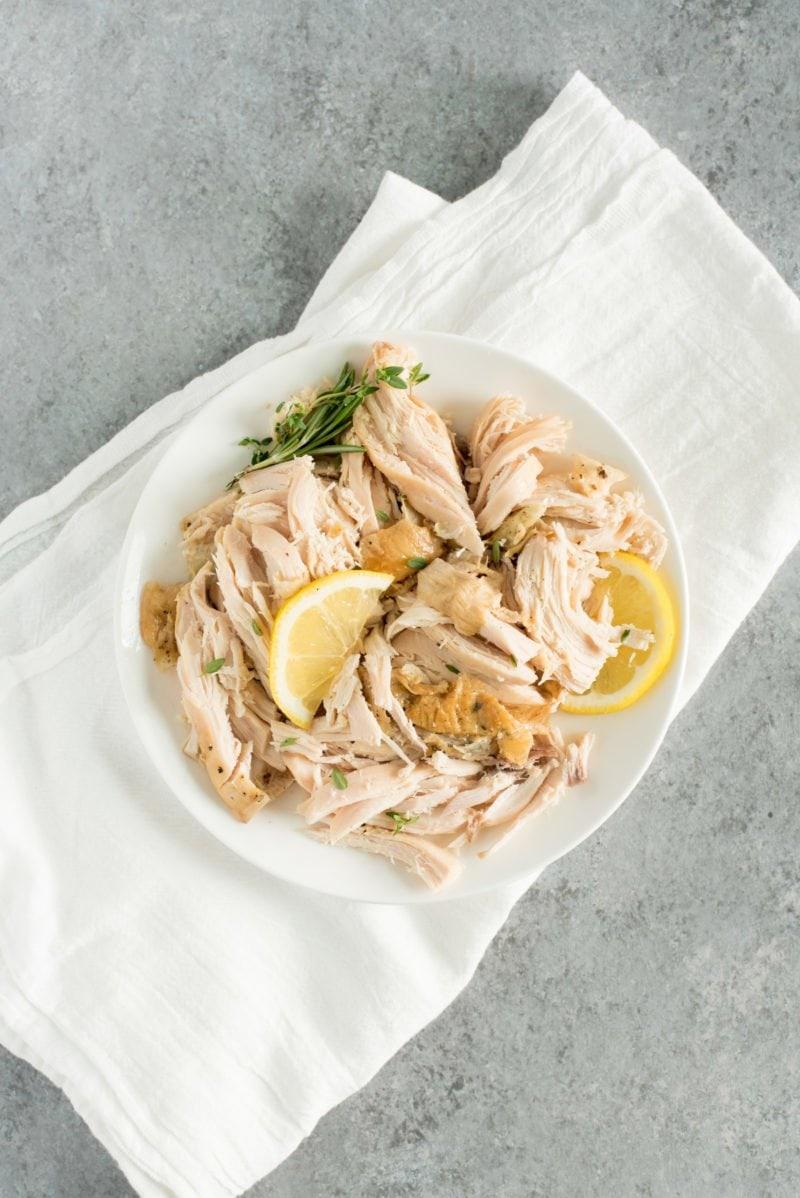 Fall Apart Slow Cooker Chicken - Shredded