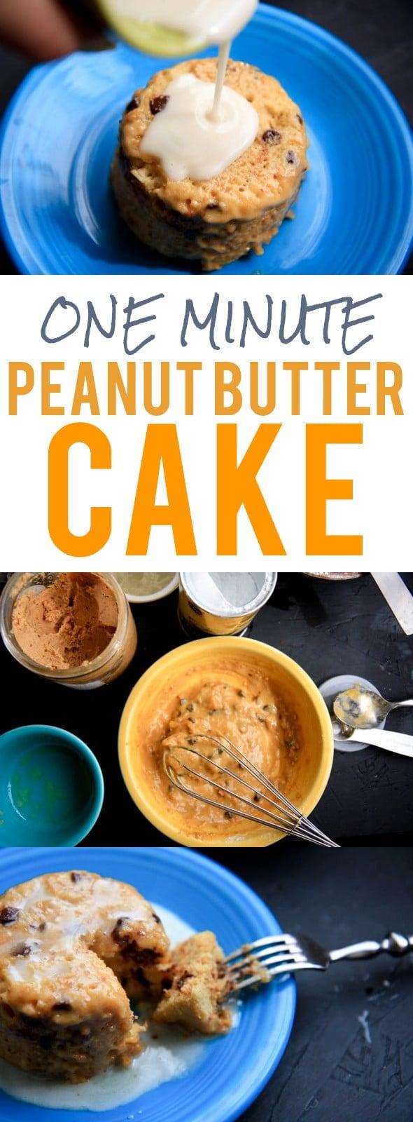 One Minute Peanut Butter Cake