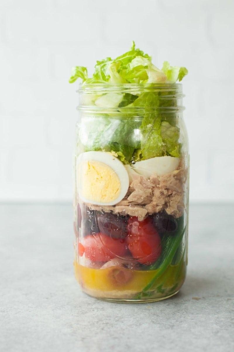 Easy-to-Peel Hard Boiled Eggs - Mason Jar Salad