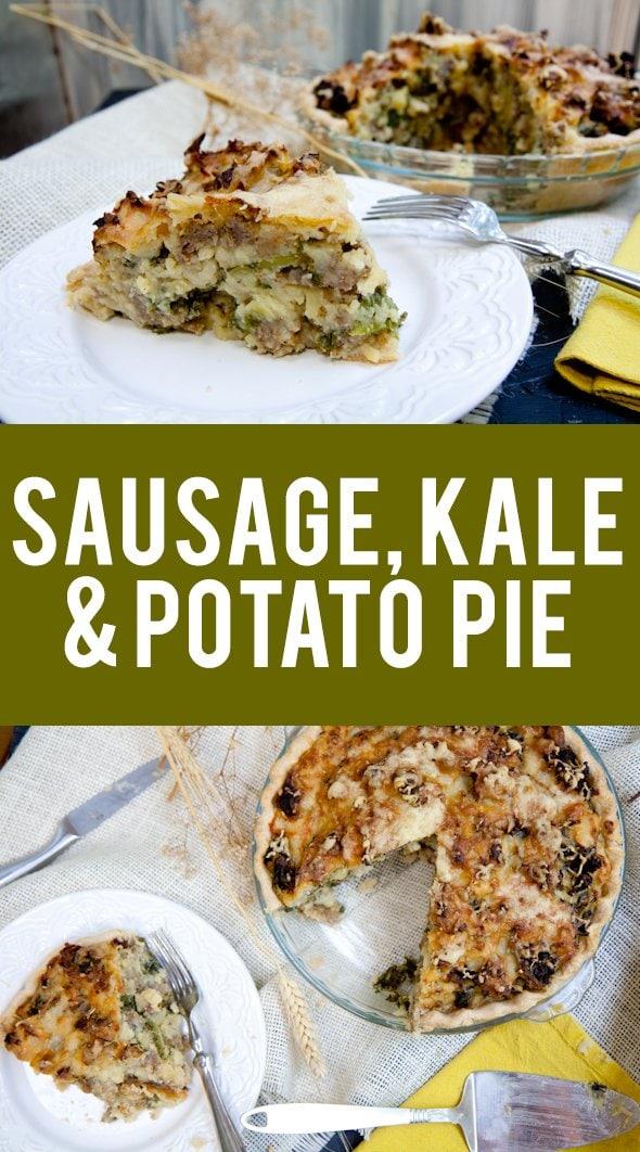 Sausage, Kale & Potato Pie