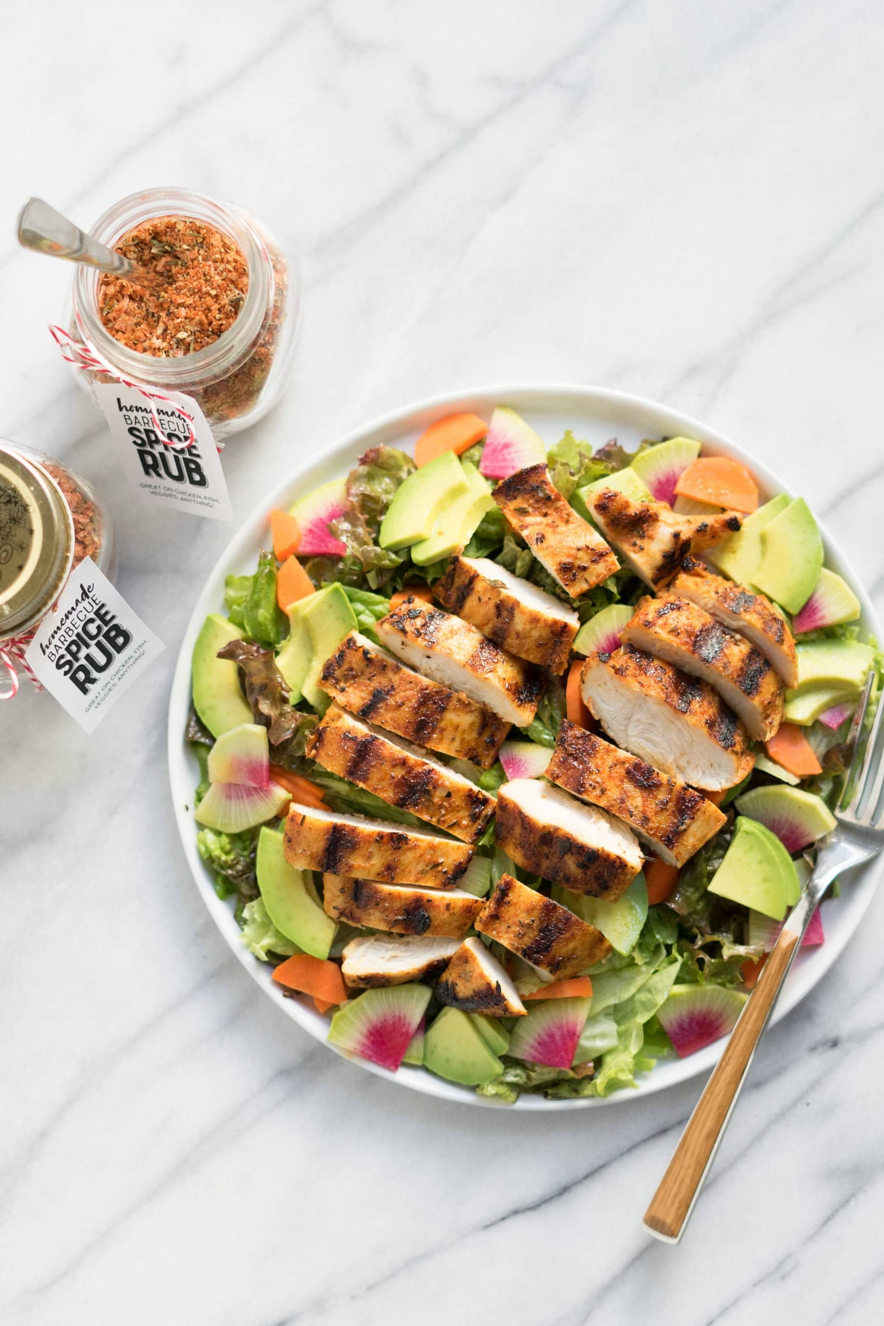 Salad with Barbecue Spice Rub