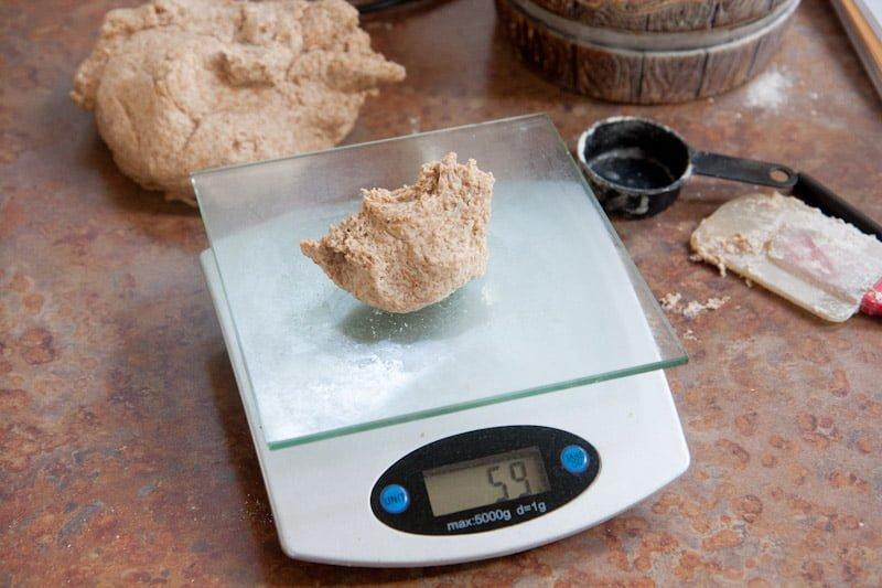 scale dough