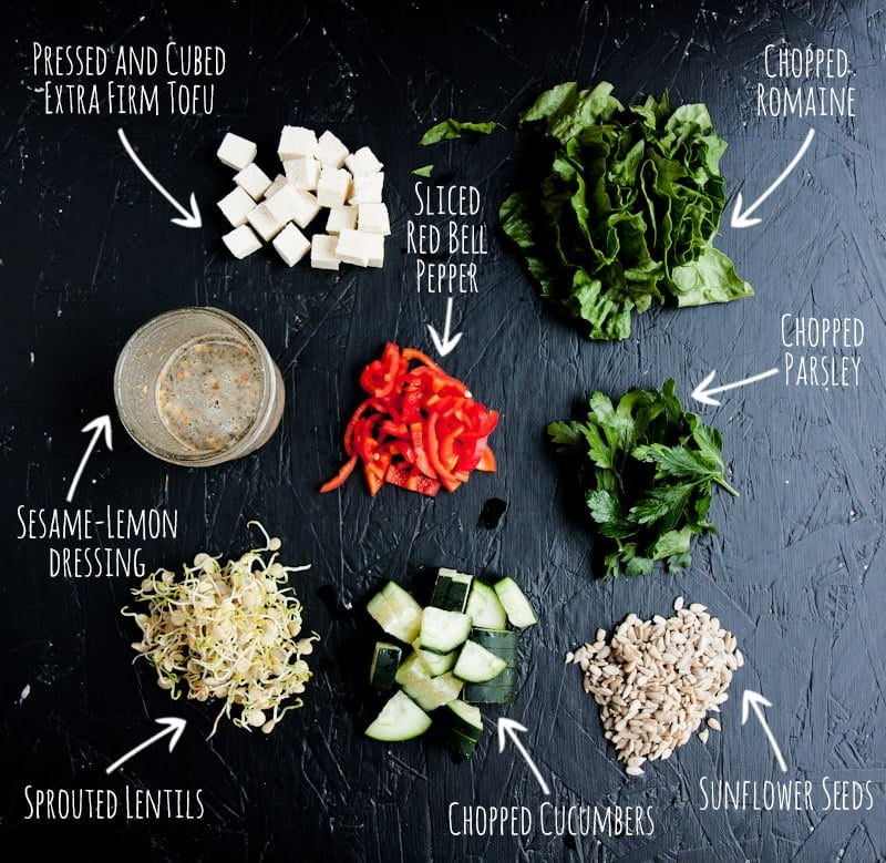 living salad ingredients