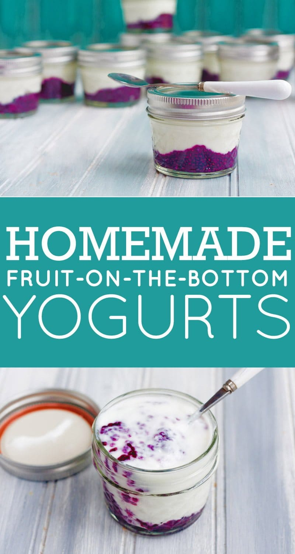 Homemade Fruit-on-the-Bottom Yogurts