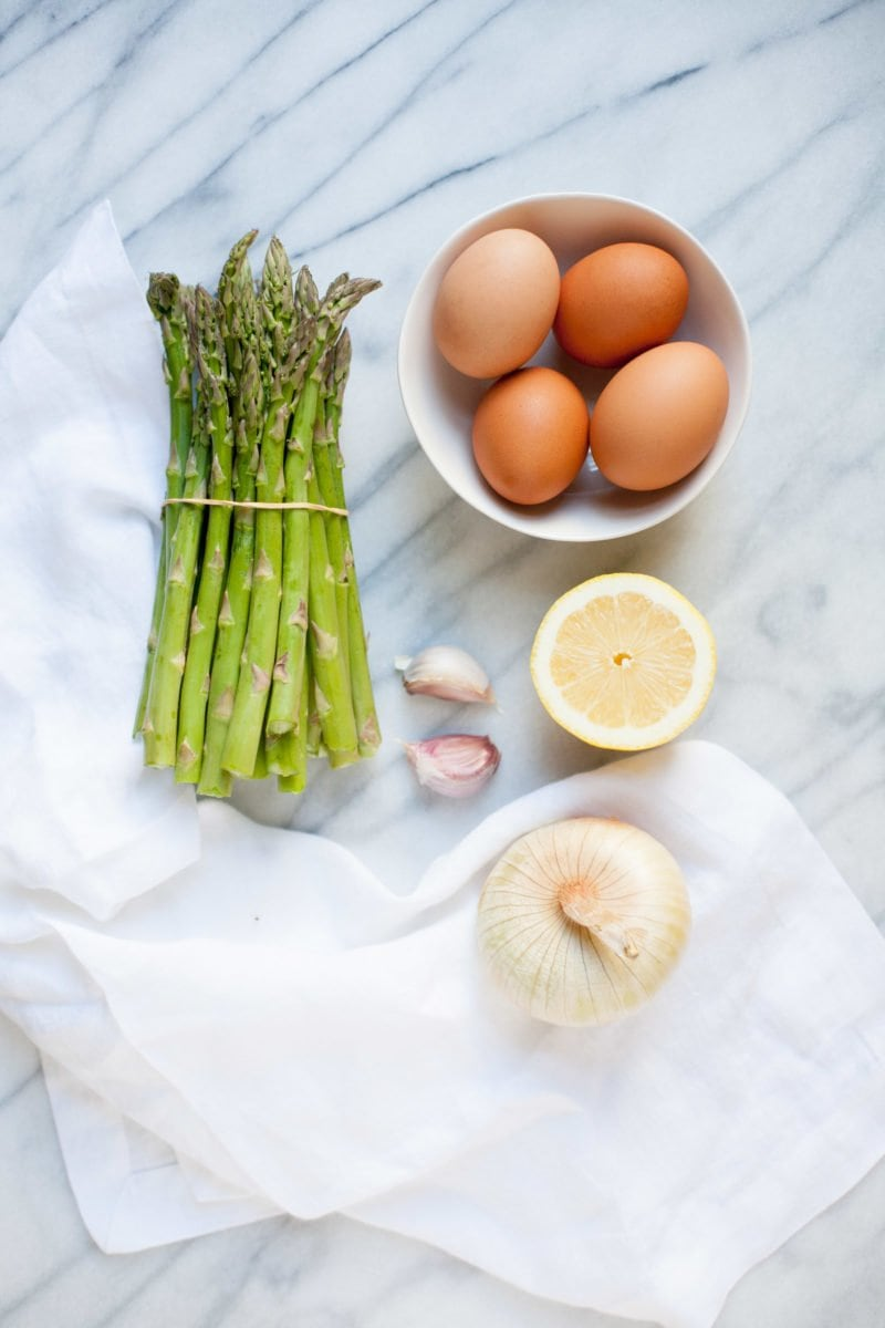 Midnight Asparagus and Eggs - Ingredients