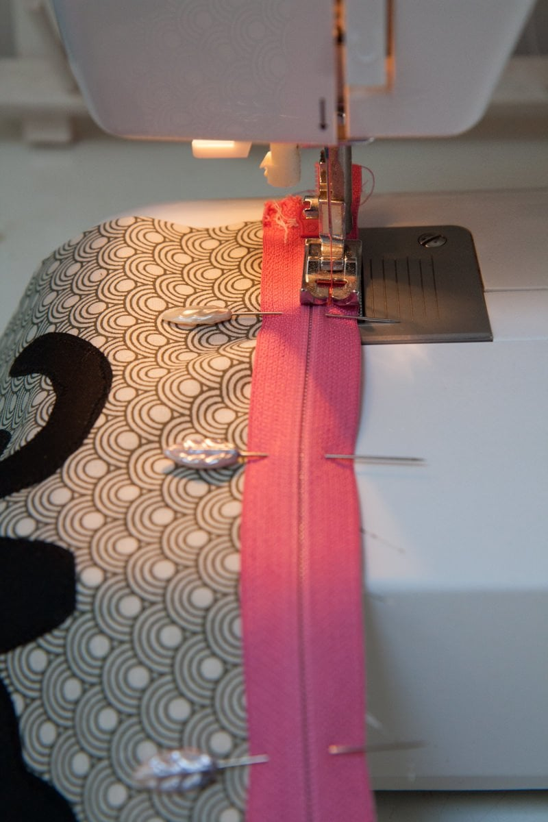 sewing machine zipper