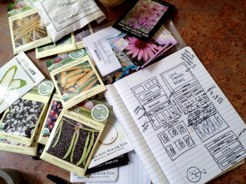 garden plan seed packets