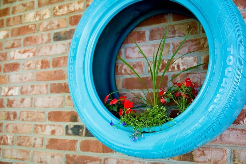 Upcycled Tire Wall Planters Wholefully