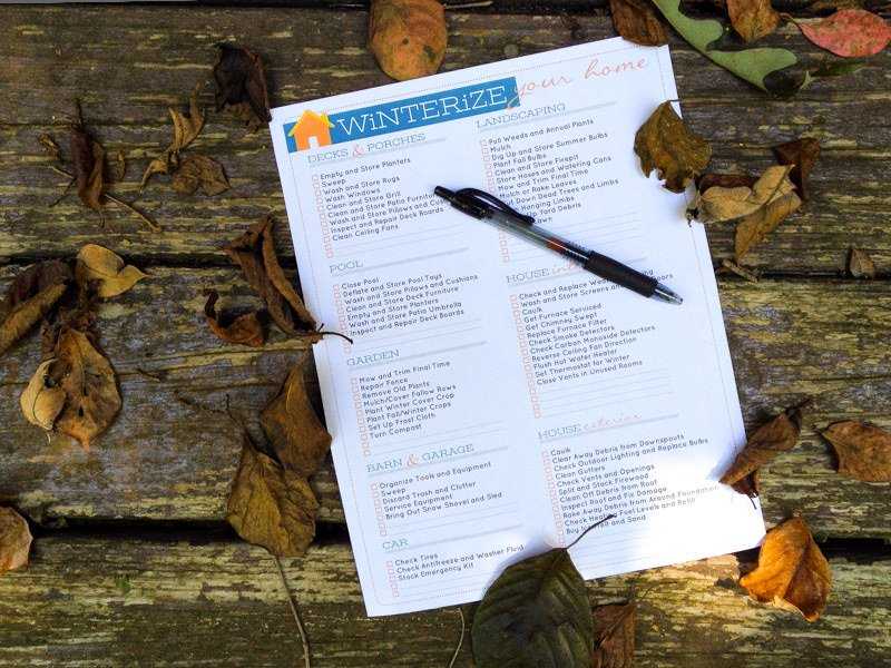 Winterizing Checklist