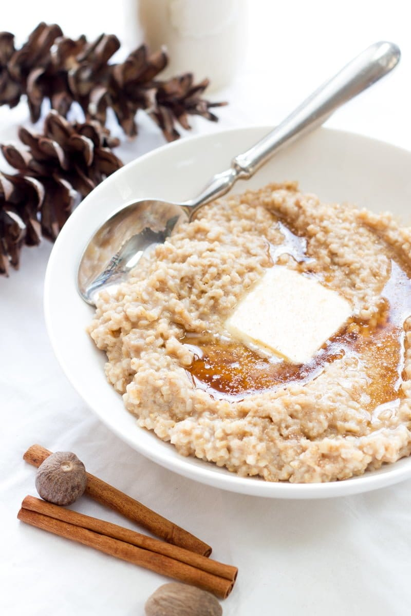 Eggnog Steel Cut Oats