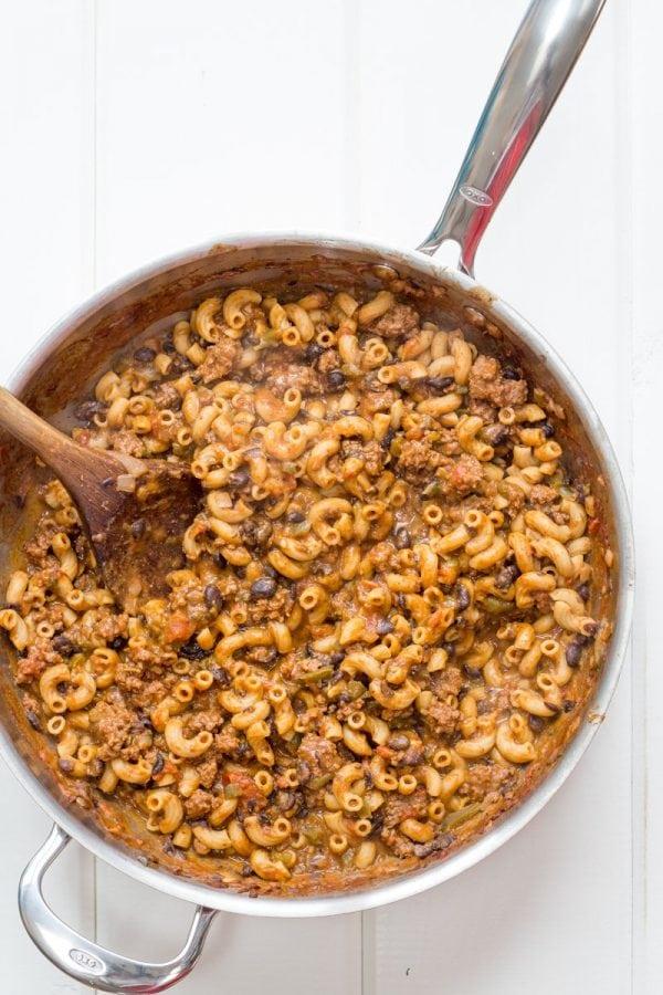 Creamy Taco Macaroni Skillet