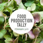 Food Production Tally—February 2015