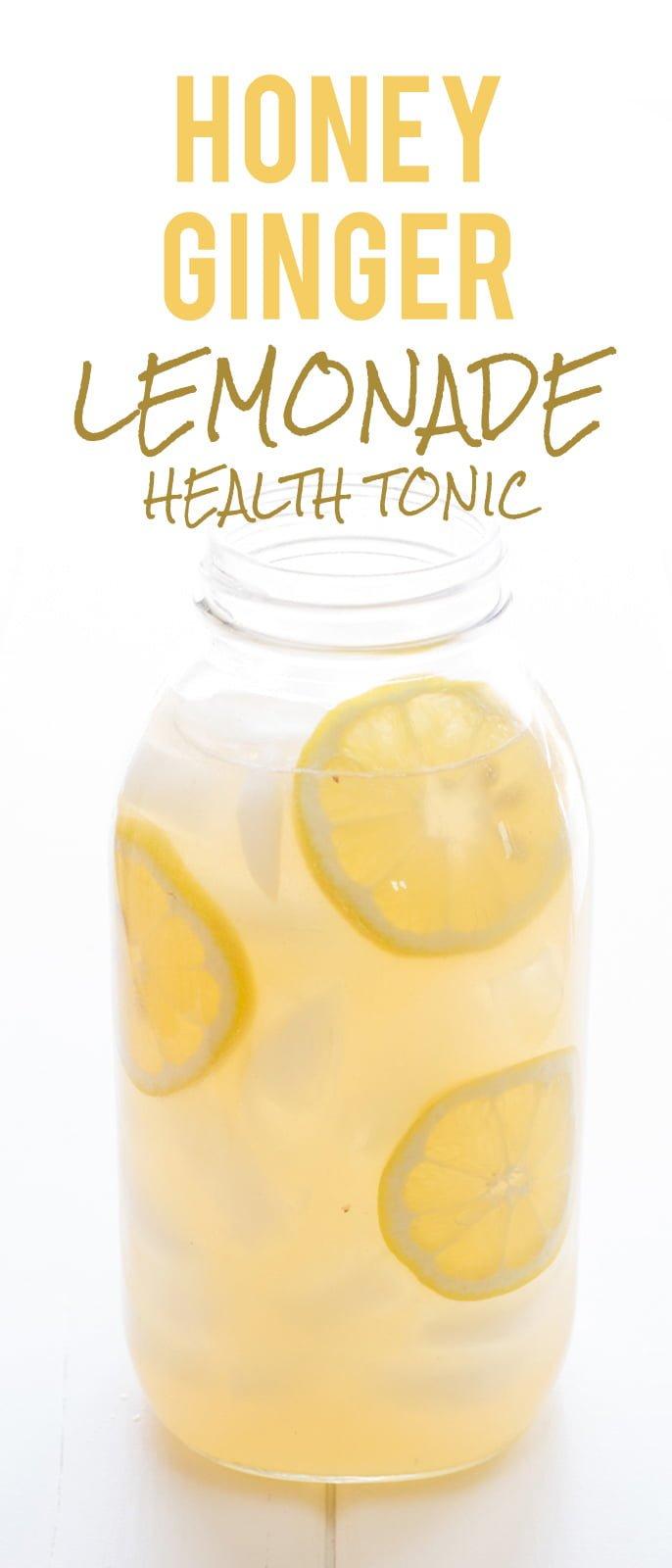 Honey Ginger Lemonade Health Tonic