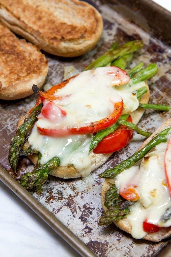 Roasted Asparagus Hoagies