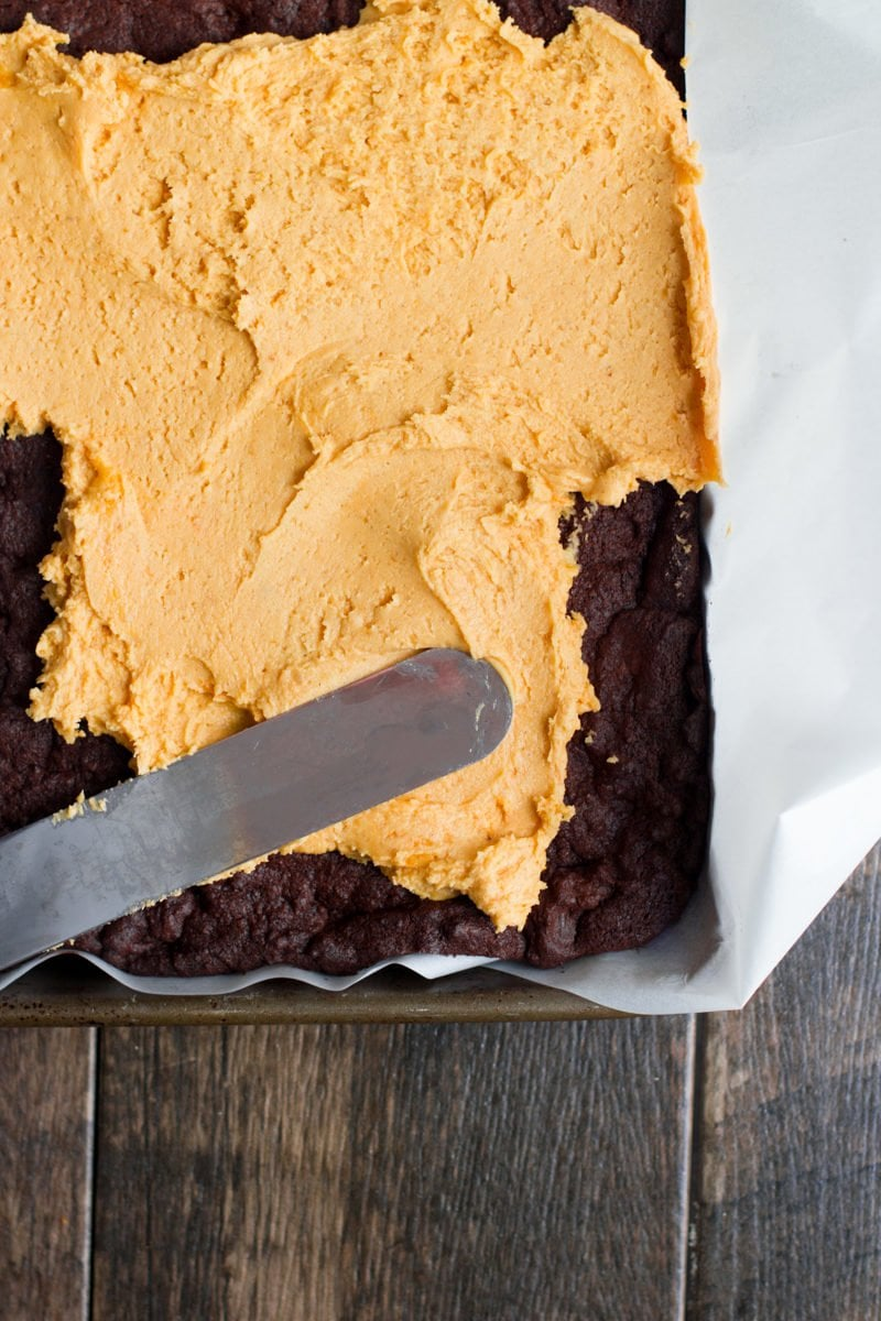 Three Layer Pumpkin Brownies