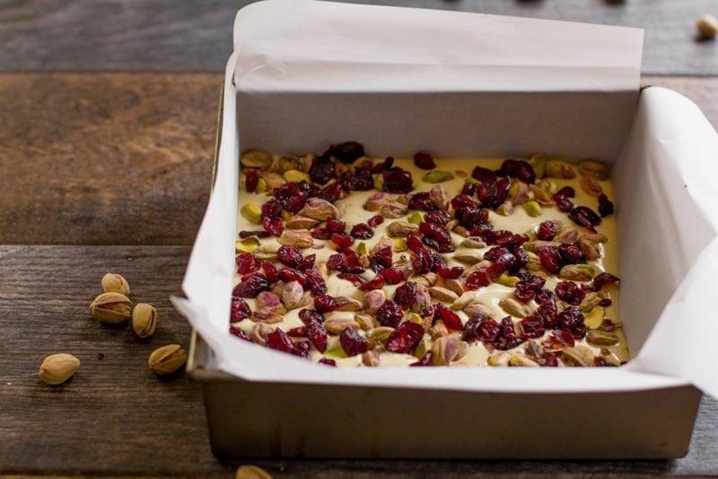 Cranberry Pistachio Bark