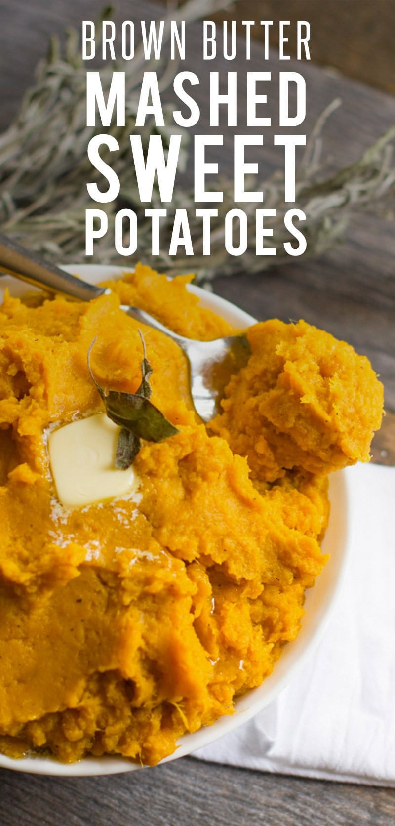 Brown Butter Mashed Sweet Potatoes