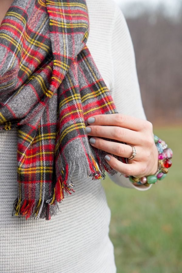0883a7e03d7 DIY No Sew Flannel Blanket Scarf | Wholefully