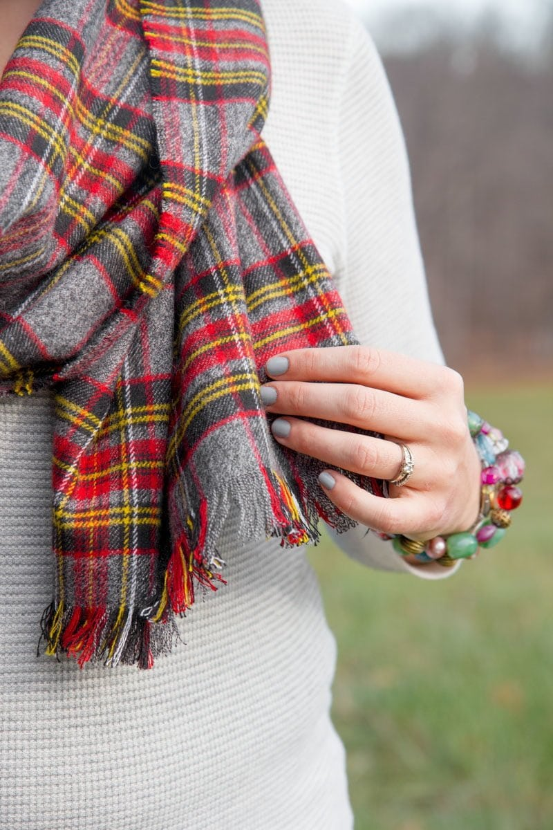 DIY No Sew Flannel Blanket Scarf