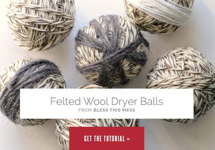 Felted Wool Dryer Balls from Bless This Mess