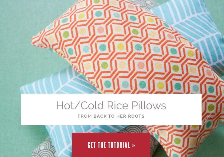 Hot/Cold Rice Pillows from Wholefully