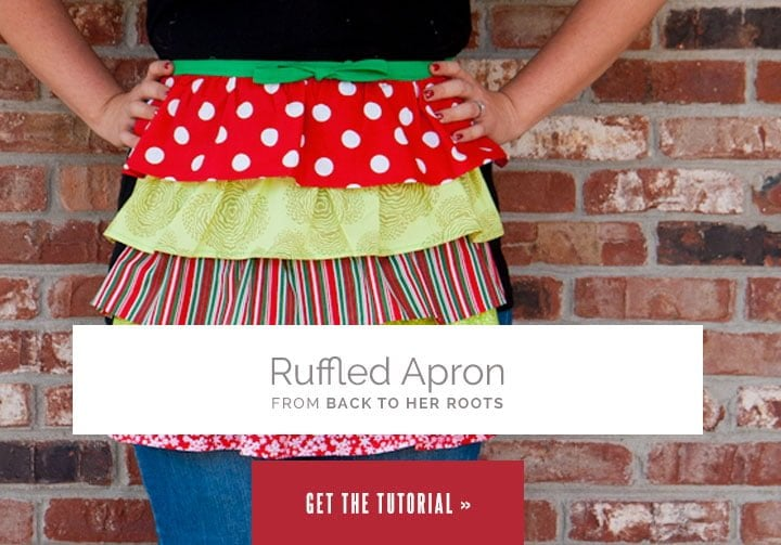 Ruffled Apron from Wholefully