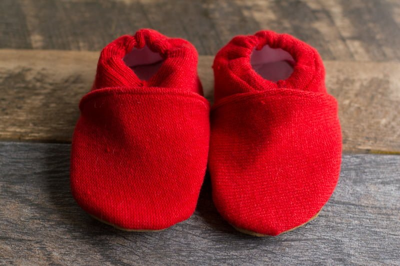 5fcdd7dc7329 Easy Upcycled Sweater Baby Booties