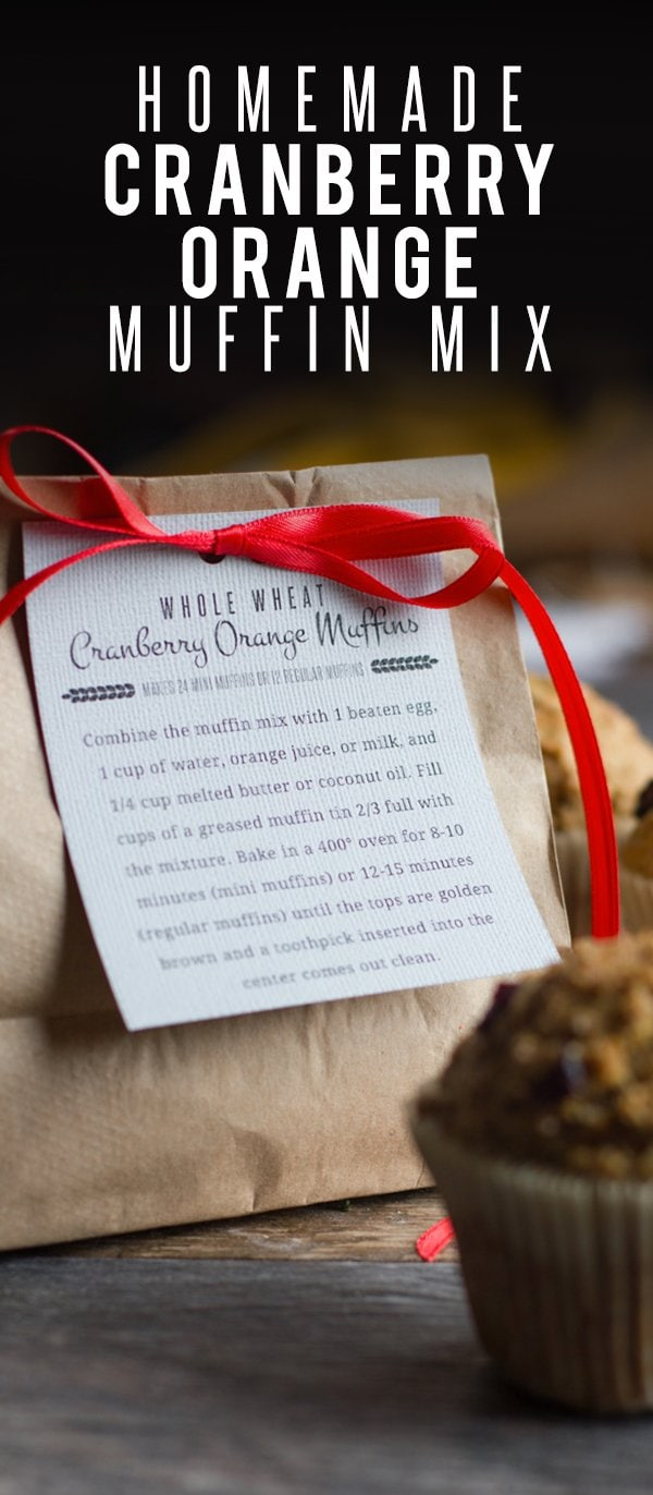 Whole Wheat Cranberry Orange Muffin Mix