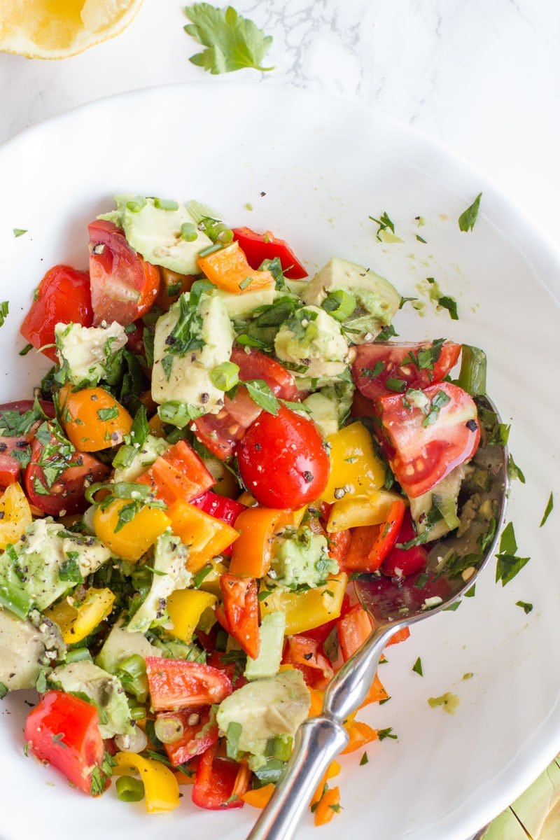 Avocado Bell Pepper Salad