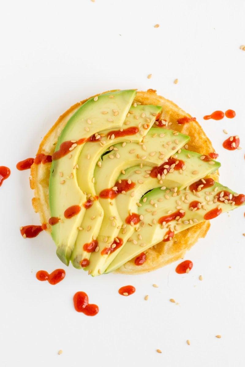Sriracha Avocado Waffle