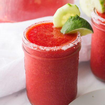 Frozen Strawberry Cucumber Margaritas
