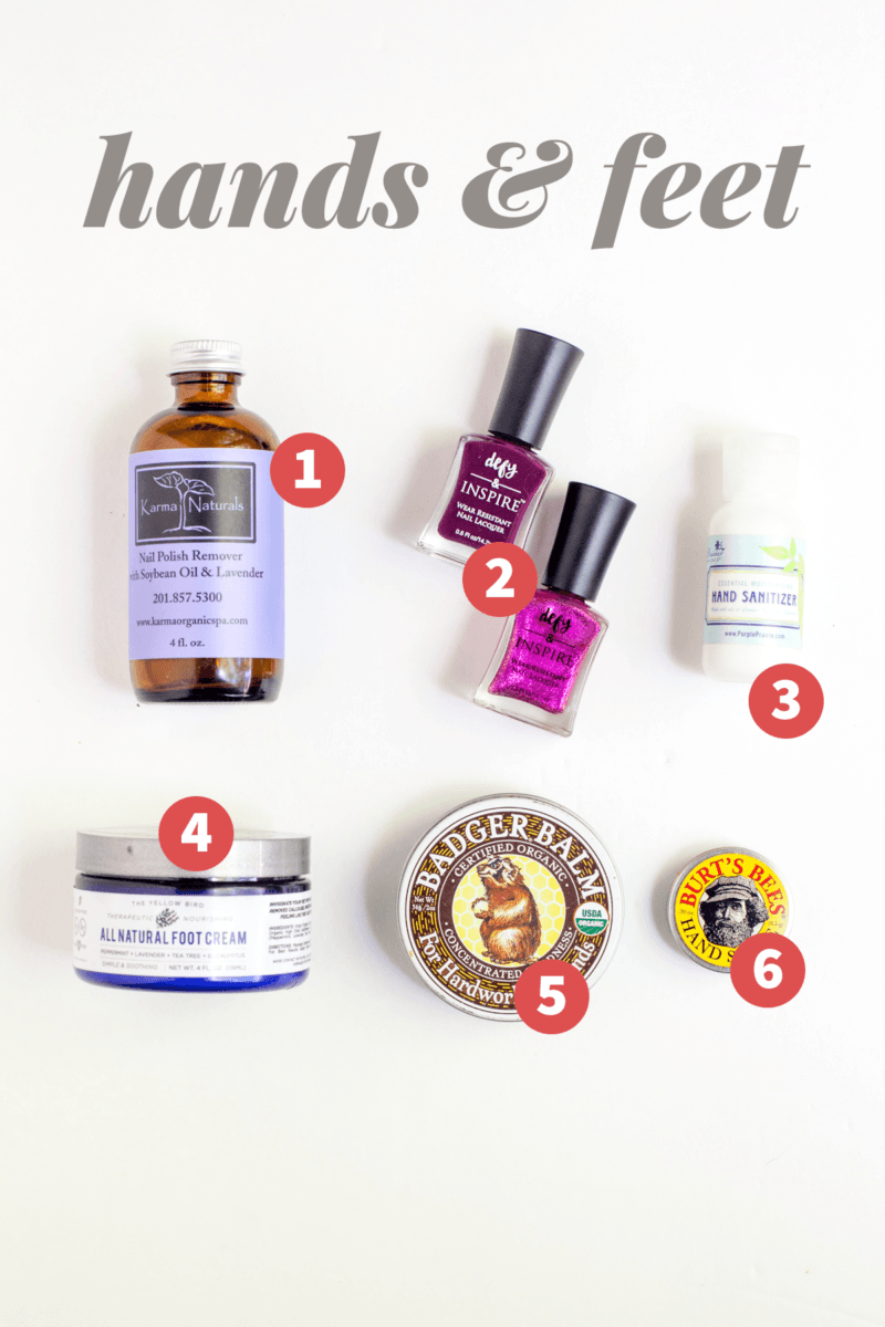 My Favorite Natural Beauty Products: Hands & Feet
