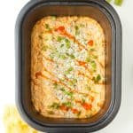 Slow Cooker Lighter Buffalo Blue Cheese Chicken Dip