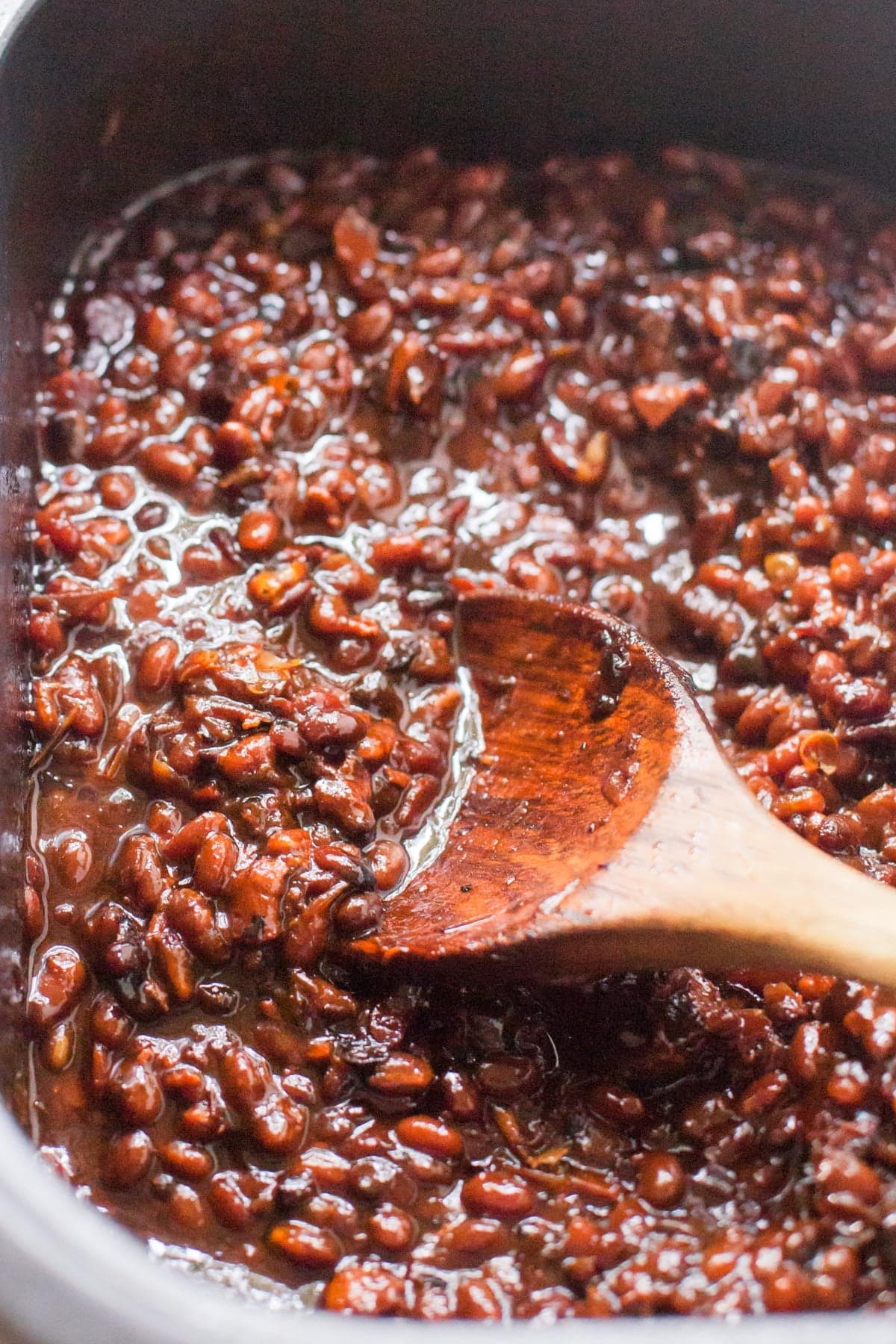 Slow Cooker Bacon Brown Sugar Baked Beans