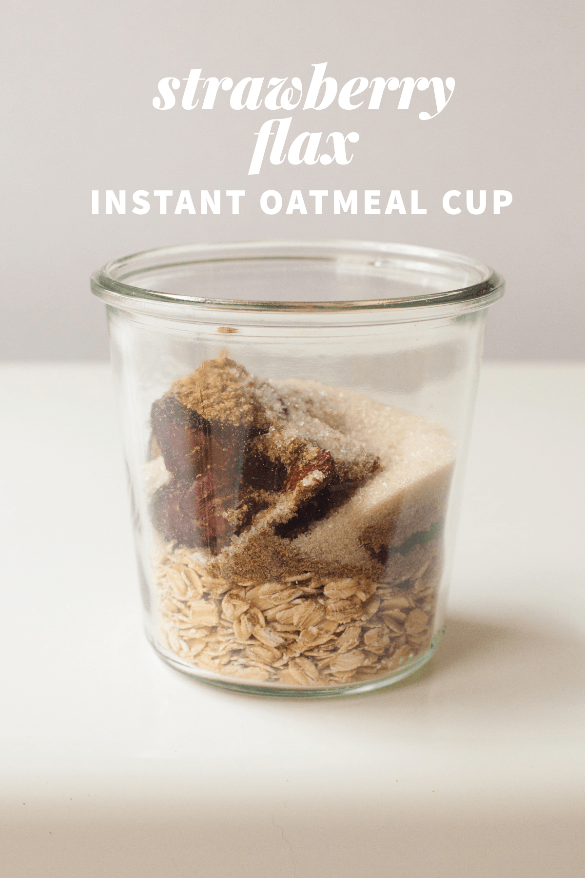 Healthy Instant Oatmeal Cups—Strawberry Flax