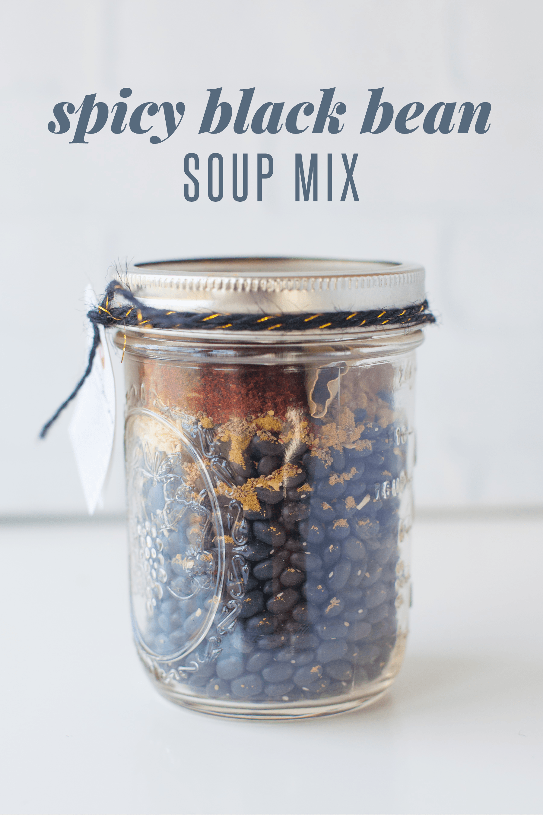 Spicy Black Bean Soup Mix