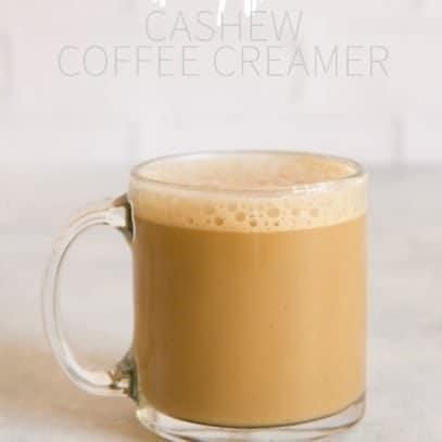 Dairy-Free Cashew Coffee Creamer