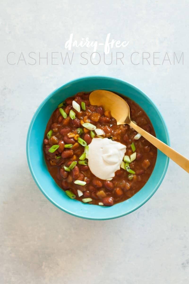 Dairy-Free Cashew Sour Cream