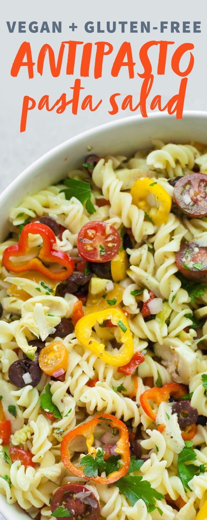 Vegan Antipasto Pasta Salad
