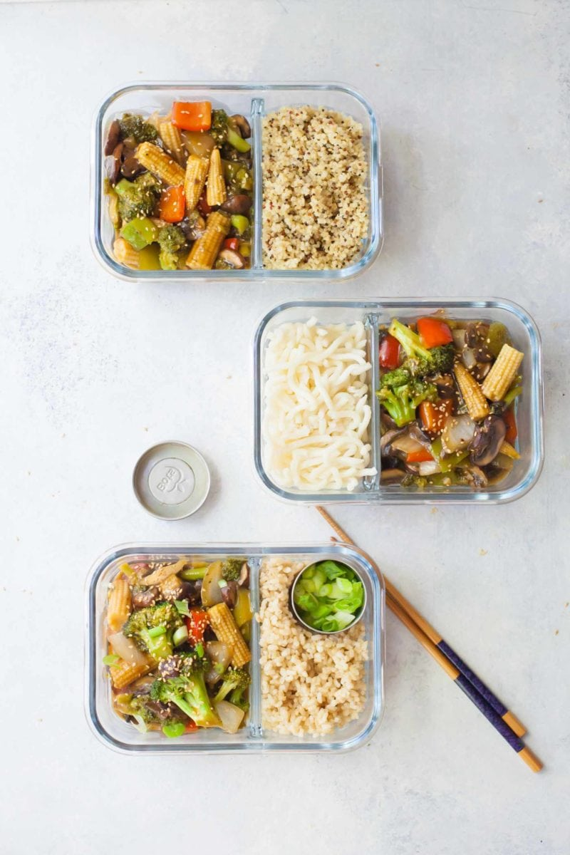 Meal Prep Healthy Veggie Stir Fry