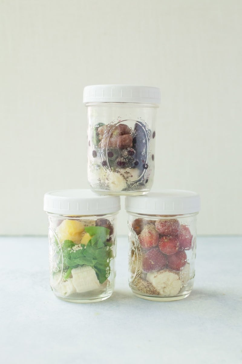 Meal Prep Smoothie Jars