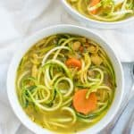 Anti-Inflammatory Turmeric Chicken Zoodle Soup